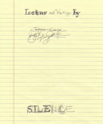 "Another Kind of Love: John Cage's ""Silence,"" By Hand, 2013 (detail) Courtesy the artist"