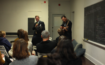 Artist class with Ragnar Kjartansson at the Performa Institute, 2011. Photo by Paula Court.